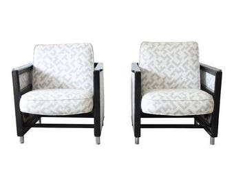 Edward Wormley for Dunbar Rocking Lounge Chairs - A Pair