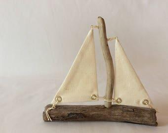 driftwood sailboat