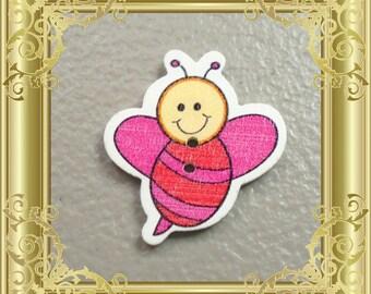 Bee Cross Stitch Needle Minder - Red