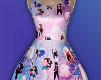 Steven Universe Inspired Dress Steven Universe Skater Dress Printed Dress *MADE 2 ORDER* Sz XS through 5XL