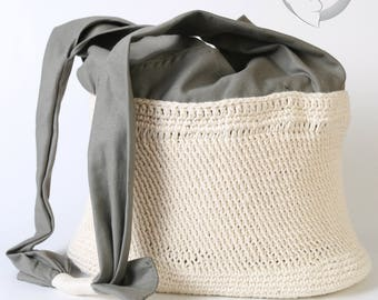 Woven by hand with interior organizer bag