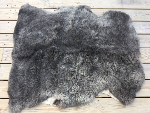 Exclusive sheepskin rug /pelt from rare Swedish Gute breed 17148