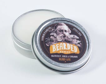 Bearded Nomad's Grapefruit, Birch and Cinnamon Beard and Moustache Wax
