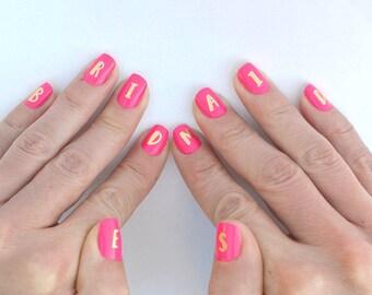 Bachelorette tattoos | Fun bachelorette idea | Gold nail decals | Bachelorette favor | Bridesmaid gift | Hens party idea | Gold tattoo
