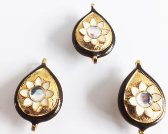 Kundan Gold and Brown  design Button sew on wedding