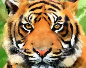 Tiger painting Tiger Tiger art Tiger print original painting wildlife art animal painting art painting animal art Tiger art print wall art