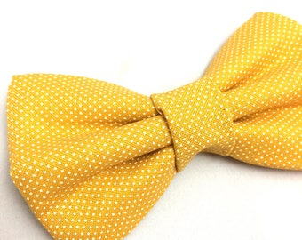 Yellow Dot Bow Tie for Dogs | Dog Bow Tie | Bow Tie for Dogs | Yellow Bow Tie | Polka Dot Bow Tie