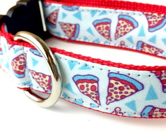 Pizza Dog Collar | Food Dog Collar | Pizza Leash | Pizza Harness |Step In Harness | Personalized Dog Collar | Engraved Metal Buckle