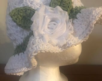 Baby Girl Easter/Spring Hat with Flower