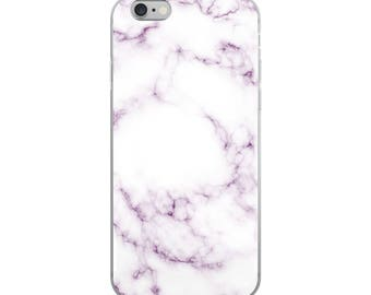 Purple and White Marble iPhone Case, iPhone 6 case, iphone 6 plus case, iphone 7, iphone 7 plus ,8, 8plus, iphone x