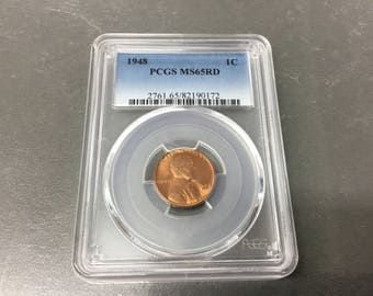1948 Lincoln cent PCGS MS65RD