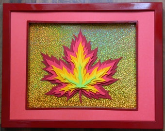 3D Paper Sculpture Fire Maple