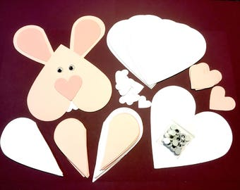 12 Heart Bunny Easter Crafts. Some Bunny Loves You. Quick crafts for kids.