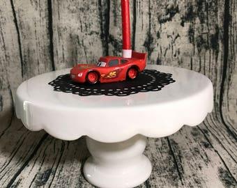 Lightning McQueen Birthday Candle Holder
