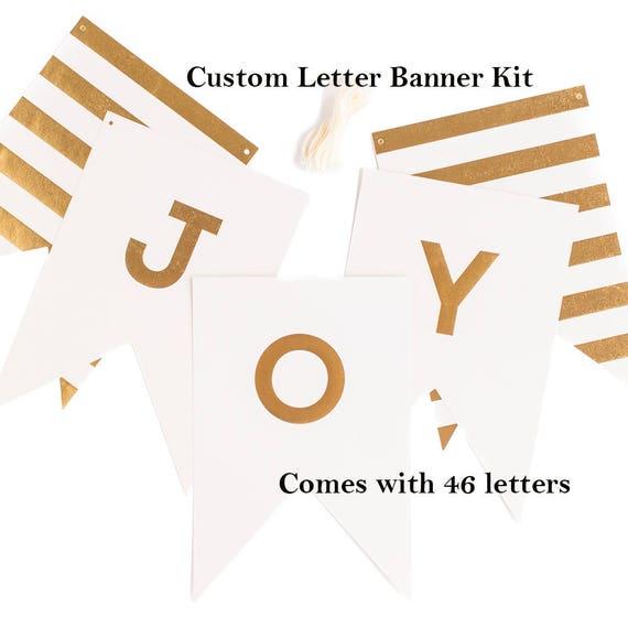 White Gold Custom Letter Banner Kit Custom Party Banner