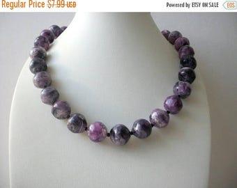 ON SALE Vintage Hand Pressed Marbleized Lucite Plastic Shorter Length Necklace 102516