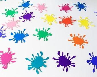 Paint Splat Confetti, Paint Splatter Table Party Decorations, Baby Shower, Birthday, Art Theme, Paint Splash, Photo Shoot Props, Smash Cake