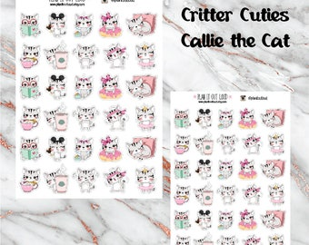 Critter Cuties Cat Stickers  (planner stickers)