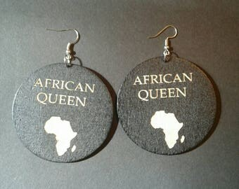 Black African Queen Earrings