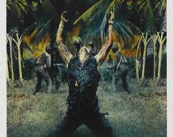 Summer Sale PLATOON Movie Poster 1986 RARE Charlie Sheen Vietnam Oliver Stone