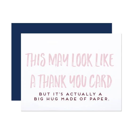 Big Paper Hug - Thank You Card