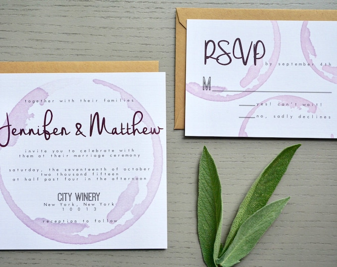 Featured listing image: Palomar Winery Wedding Invitation