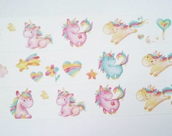 Design Washi tape Unicorn Rainbow Masking tape