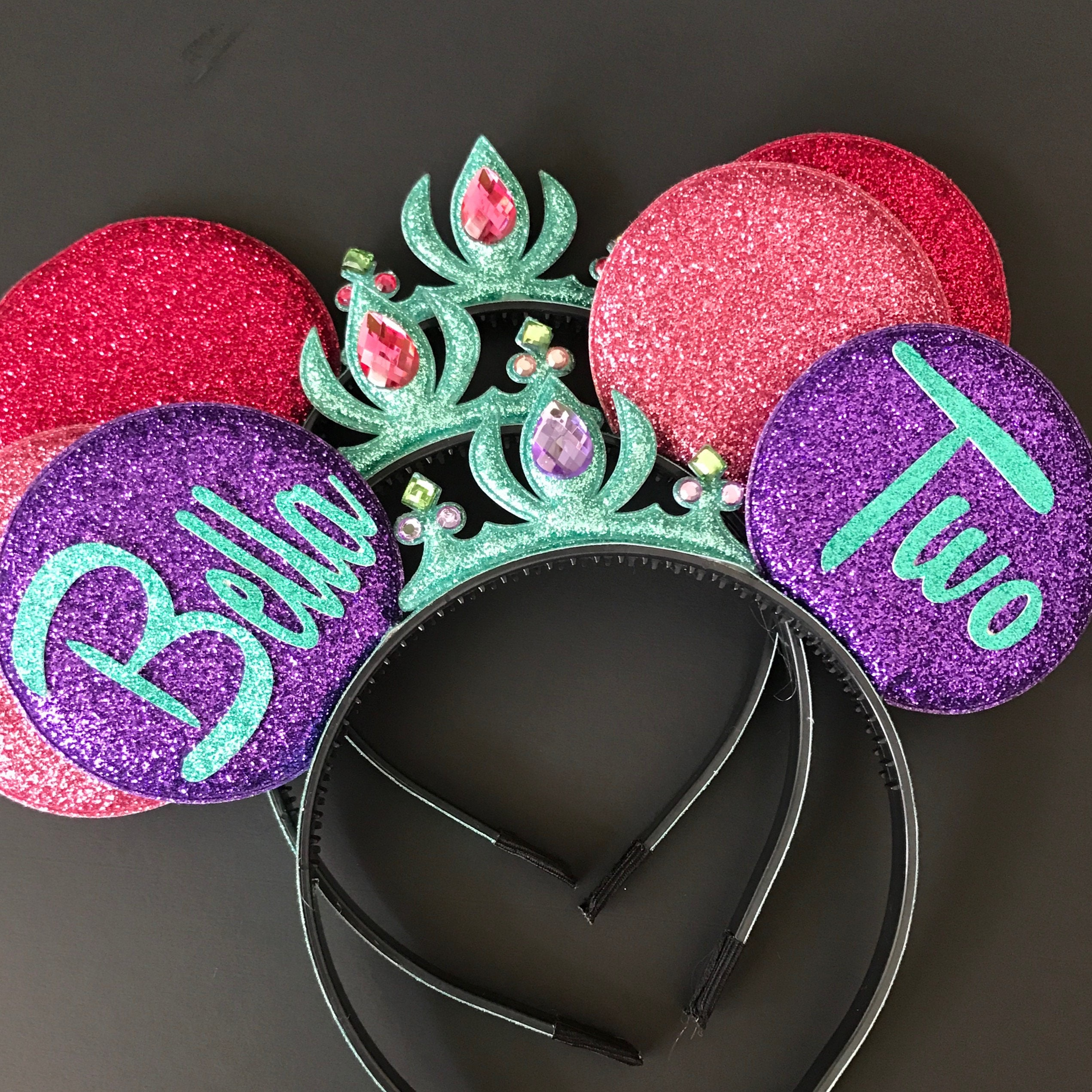 Ariel Minnie Ears,Ariel Crown Minnie Ears,First Birthday