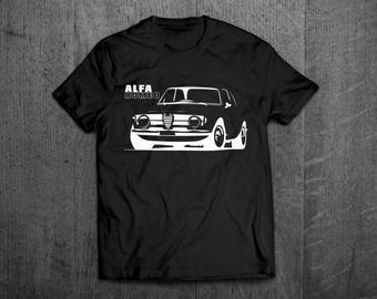 Alfa Romeo shirts, Alfa Classic t shirt, cars t shirts, men tshirts, women t shirts, classic car shirts, italy shirts, Alfa Romeo Giulia