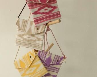 Shoulder bag, made of the tipically coton cloth of Mallorca