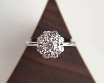 0.3 Carat Diamond Engagement Ring Moissanite Engagement Ring Round Diamond Engagement Ring White Gold Ring Diamond White Gold Ring