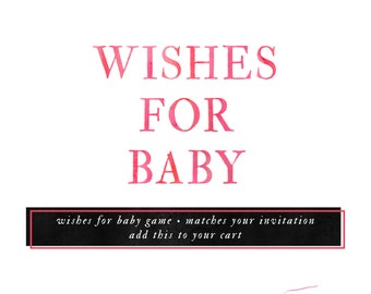 Matching Wishes for Baby Add-On. 5x7 inches - extras