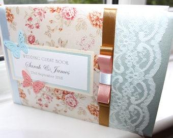 Personalised Handmade Wedding Guest Book Gold by Charlotte Elisabeth GB008