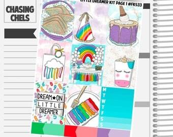 Little Dreamer Collection #FK533-540 Premium Matte Planner Stickers