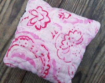 Pink vintage quilt lavender bag