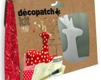 Christmas reindeer decopatch kit