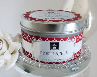 Soy Candle Fresh Apple (No. 83) Soy Candle Tin | 3 Sizes Available