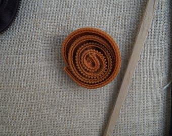 Orange zipper brooch