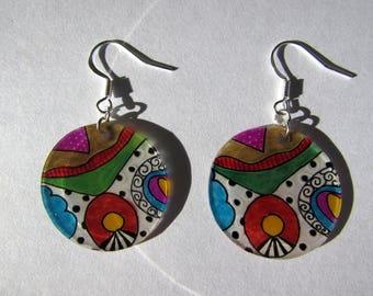 "Earrings ""the world in color"""