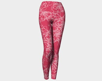 RASPBERRY Yoga Pants/ Yoga Leggings/ Yoga Gifts/ Yoga Pants Women/ Modest Clothing/ Leggings/ Leggings Printed/ Leggings Women