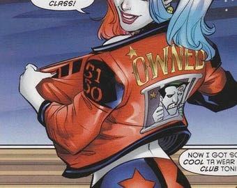 DC Comics Batman, Harley Quinn Suicide Squad High Quality Sexy Geek Cosplay Costume Adult, Halloween costume, Jacket Top Shorts CUSTOM ORDER