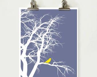 Bird on tree branch, Fall Decor, Home Decor, Living Room Art, Bird Print, Printable, INSTANT DOWNLOAD