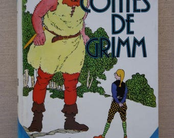 """French vintage children's book / """"Tales from Grimm"""" by Fernand Nathan vintage"""