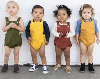 Gender Neutral Baby Romper, Fall Romper, Playsuit, First Birthday, Toddler, Boy Romper, Girl Romper, Summer Romper, Newborn Romper
