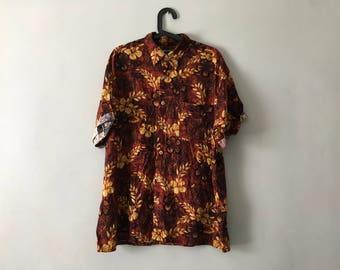 Vintage Oversized Floral Shirt | Festival Shirt