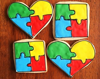 One Dozen - Autism Awareness Cookies