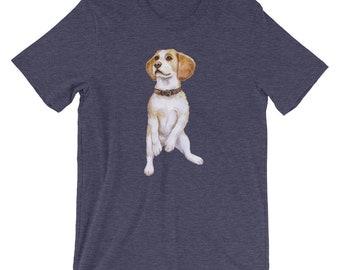Watercolor Beagle Short-Sleeve Unisex T-Shirt