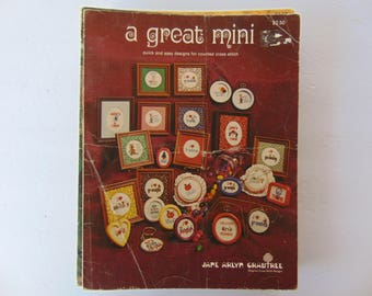 A Great Mini Cross Stitch Leaflet by Jane Arlyn Crabtree