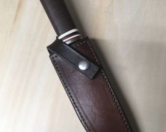 Knife, Vintage Knife, Hunting Knife, Vintage Cattaraugus 225Q Quartermaster's Knife, Cattaraugus Knife, Leather Handle Knife, USA Knife