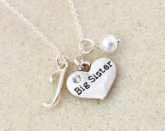 Personalized big sister necklace big sister gift from baby announcement new gift big sister gift from new baby future big sister gift